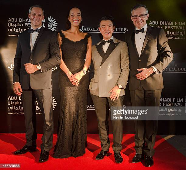 Marc de Panafieu Carmen Chaplin Wonho Chung and Laurent Vinay attend the opening ceremony of the Abu Dhabi Film Festival on October 23 2014 in Abu...
