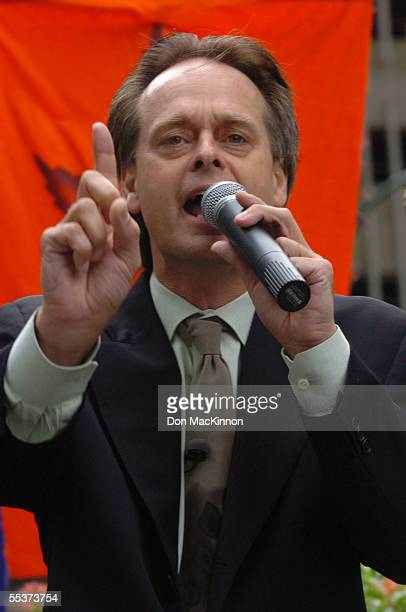 Marc Emery addresses a crowd of four hundred that attended an antiextradition rally held for him in front of the US Consulate on September 10 2005 in...