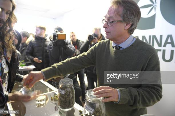Marc Emery Canada's selfproclaimed 'Prince of Pot' and founder of the Cannabis Culture dispensary chainis seen in his illegal recreational cannabis...