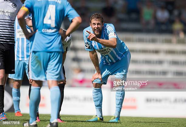 Marc Endres of Chemnitz reacts during the third league match between VfR Aalen and Chemnitzer FC at ScholzArena on August 14 2016 in Aalen Germany
