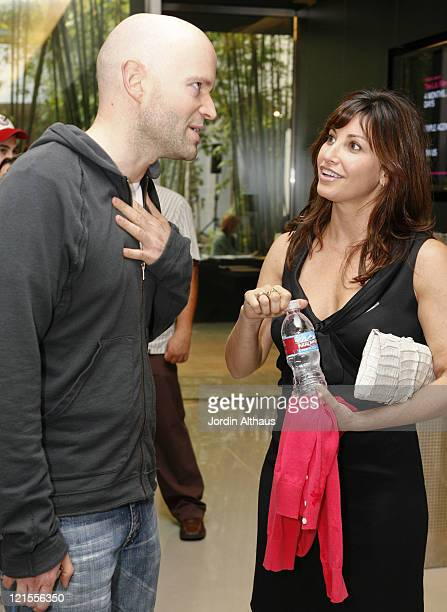 Marc Forster and Gina Gershon during 2007 Los Angeles Film Festival 'Straight Time' Screening at Billy Wilder Theatre in Los Angeles California...