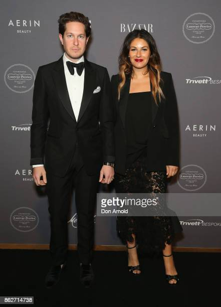Marc Freeman and Camilla FreemanTopper arrive ahead of BAZAAR in Bloom at The Ivy on October 18 2017 in Sydney Australia