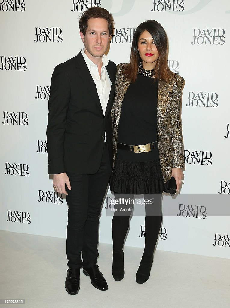 Marc Freeman and Camilla Freeman-Topper arrive at the David Jones Spring/Summer 2013 Collection Launch at David Jones Elizabeth Street on July 31, 2013 in Sydney, Australia.