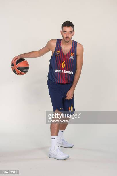 Marc Garcia #6 poses during FC Barcelona Lassa 2017/2018 Turkish Airlines EuroLeague Media Day at Palau Blaugrana on September 25 2017 in Barcelona...
