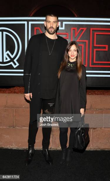 Marc Gasol of Memphis Grizzlies and Cristina Blesa attend GQ Celebration of NBA AllStar Weekend 2017 at Ogden Museum Of Southern Art on February 18...