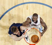 Marc Gasol of the Memphis Grizzlies dunks against the Charlotte Bobcats on January 9 2010 at the Time Warner Cable Arena in Charlotte North Carolina...