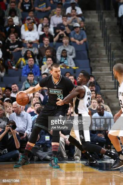 Marc Gasol of the Memphis Grizzlies handles the ball against the San Antonio Spurs on February 6 2017 at FedExForum in Memphis Tennessee NOTE TO USER...