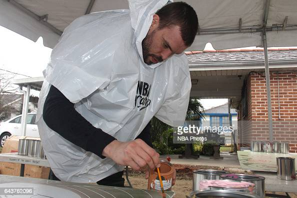 Marc Gasol of the Memphis Grizzlies participates during the NBA Cares Day of Service as part of 2017 AllStar Weekend at the KaBOOM Rebuilding...