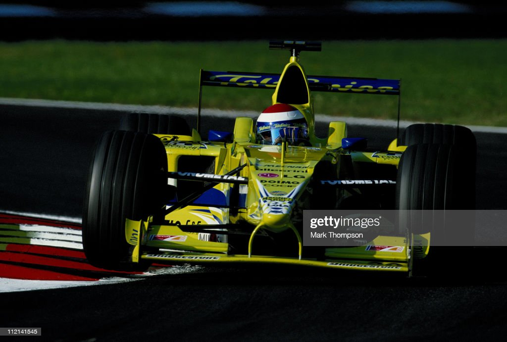 <a gi-track='captionPersonalityLinkClicked' href=/galleries/search?phrase=Marc+Gene&family=editorial&specificpeople=217824 ng-click='$event.stopPropagation()'>Marc Gene</a> drives the #20 Telefonica Minardi Fondmetal Minardi M02 Fondmetal 3.0 V10 during the Italian Grand Prix on 10th September 2000 at the Autodromo Nazionale Monza near Monza, Italy.