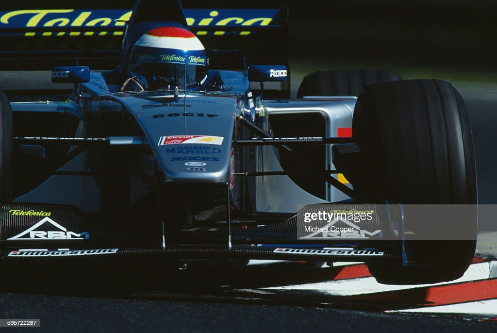 <a gi-track='captionPersonalityLinkClicked' href=/galleries/search?phrase=Marc+Gene&family=editorial&specificpeople=217824 ng-click='$event.stopPropagation()'>Marc Gene</a> of Spain drives the #22 Fondmetal Minardi Ford Minardi M01 Ford V10 during the Hungarian Grand Prix on 15 August 1999 at the Hungaroring Circuit, Budapest, Hungary.