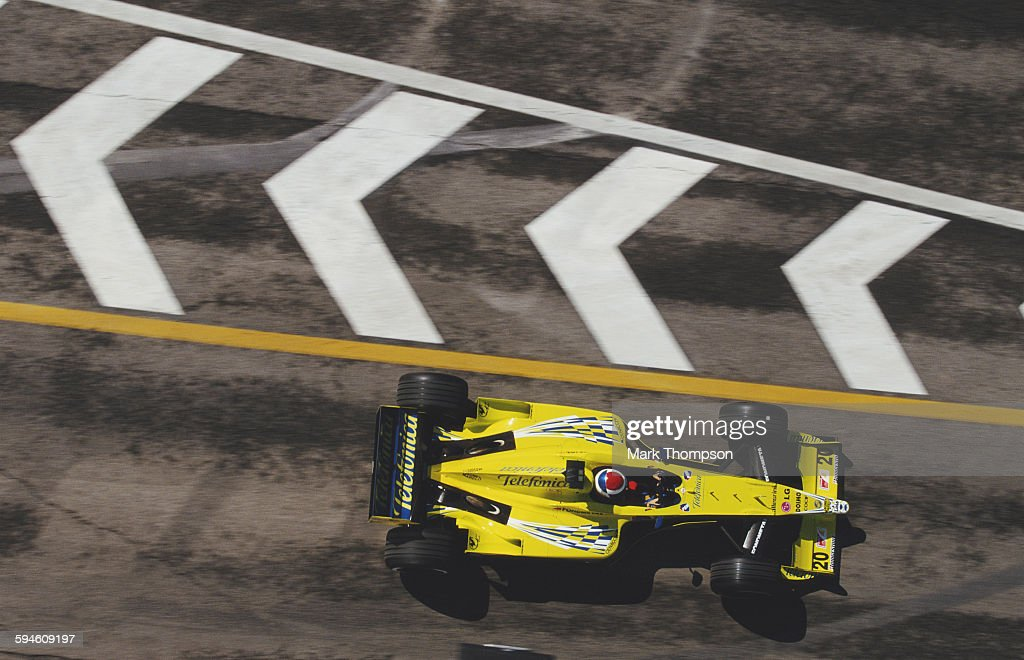 <a gi-track='captionPersonalityLinkClicked' href=/galleries/search?phrase=Marc+Gene&family=editorial&specificpeople=217824 ng-click='$event.stopPropagation()'>Marc Gene</a> of Spain drives the #20 Telefonica Minardi Fondmetal Minardi M02 Fondmetal V10 out of the pit lane during practice for the San Marino Grand Prix on 8 April 2000 at the Autodromo Enzo e Dino Ferrari in Imola, San Marino. (Photo by Mark Thompson/Getty Images