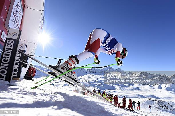 Marc Gisin of Switzerland during the Audi FIS Alpine Ski World Cup Men's Downhill Training on November 30 2016 in Val d'Isere France
