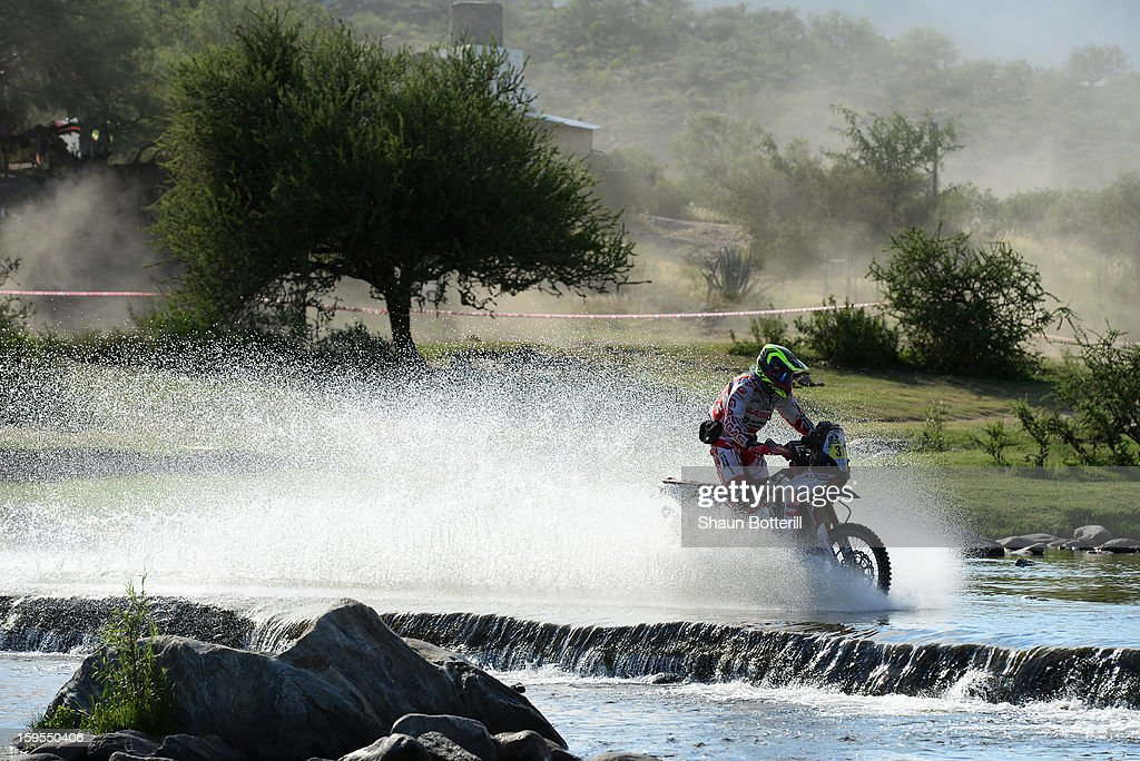 Marc Guash of team Gas Gas competes in stage 10 from Cordoba to La Rioja during the 2013 Dakar Rally on January 15, 2013 in Cordoba, Argentina.