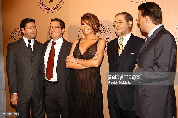 Marc Guten Julien Tornare Melania Trump ClaudeDaniel Proellochs and Juan Carlos Torres attend Party in honor of Vacheron Constantin's 250th...