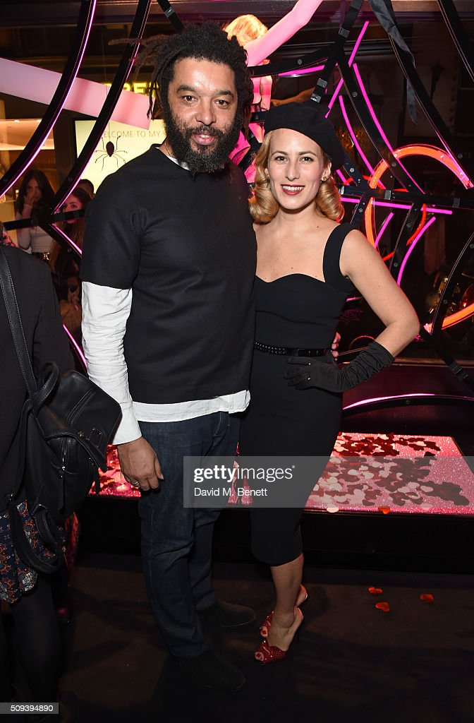 Marc Hare (L) and <a gi-track='captionPersonalityLinkClicked' href=/galleries/search?phrase=Charlotte+Dellal&family=editorial&specificpeople=2242560 ng-click='$event.stopPropagation()'>Charlotte Dellal</a> attend an intimate cocktail event hosted at Agent Provocateur Grosvenor Street boutique to celebrate the launch of the Agent Provocateur and Charlotte Olympia capsule collection on February 10, 2016 in London, England.