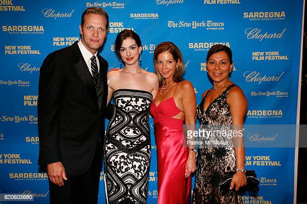 Marc Hruschka Anne Hathaway Kristen De Cotiis and Jessica Crowley attend CHOPARD sponsors NEW YORK FILM FESTIVAL Opening Night at Avery Fisher Hall...