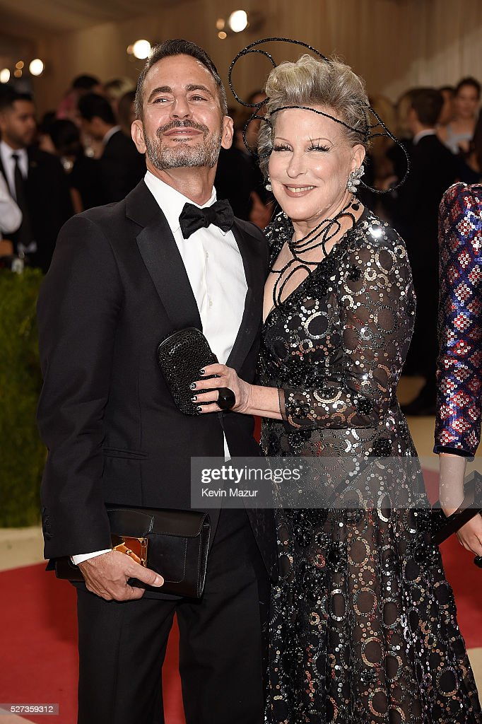 Marc Jacobs and Bette Midler attend 'Manus x Machina: Fashion In An Age Of Technology' Costume Institute Gala at Metropolitan Museum of Art on May 2, 2016 in New York City.
