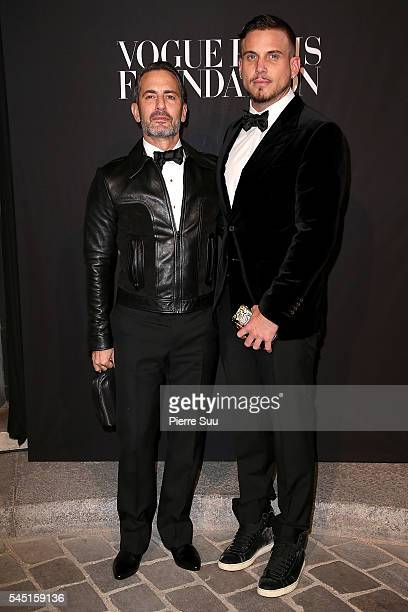 Marc Jacobs and Charles Defrancesco attend the Vogue Foundation Gala 2016 at Palais Galliera on July 5 2016 in Paris France