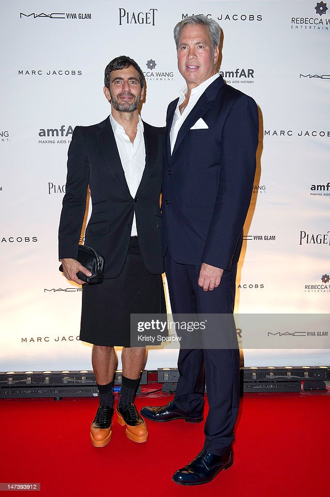 Marc Jacobs and Robert Duffy attend the amfAR Inspiration Night Paris at Maxim's on June 28, 2012 in Paris, France.
