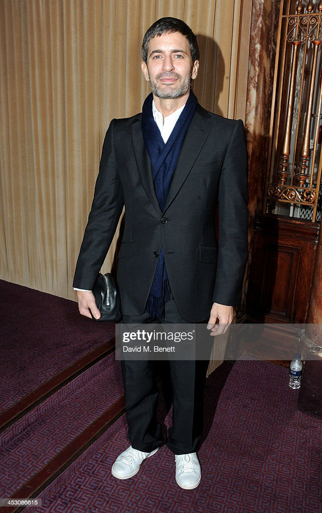 <a gi-track='captionPersonalityLinkClicked' href=/galleries/search?phrase=Marc+Jacobs+-+Fashion+Designer&family=editorial&specificpeople=4190324 ng-click='$event.stopPropagation()'>Marc Jacobs</a> attends the British Fashion Awards 2013 drinks reception at the London Coliseum on December 2, 2013 in London, England.