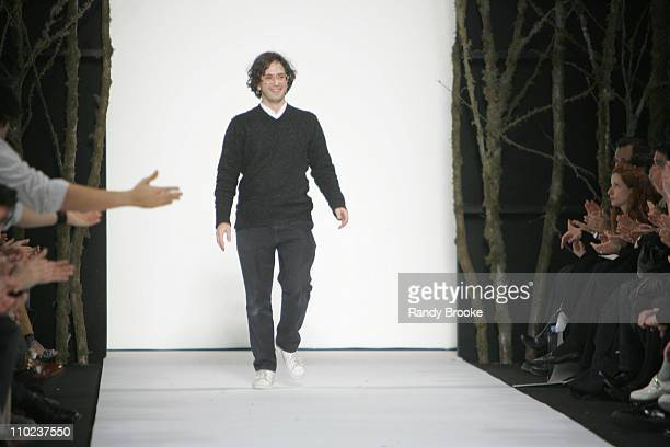 Marc Jacobs designer during Olympus Fashion Week Fall 2005 Marc Jacobs Runway at New York State Armory in New York City New York United States