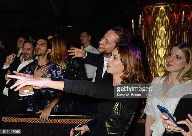 Marc Jacobs Imran Amed Derek Blasberg Alexa Chung and Gillian Orr attend the Marc Jacobs Beauty dinner at the Club at Park Chinois on February 20...