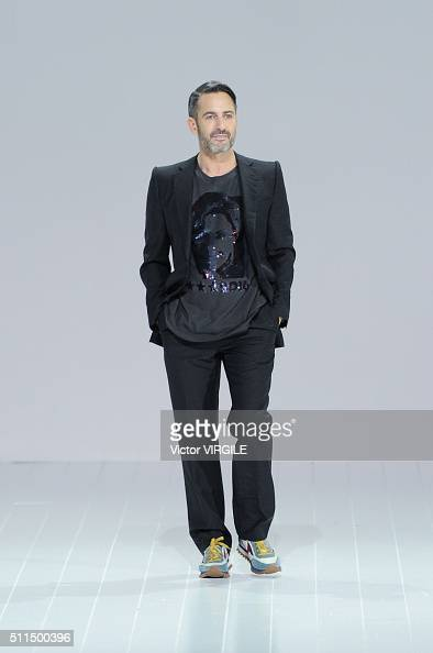 Marc Jacobs walks the runway at the Marc Jacobs Fall/Winter 2016 fashion show during New York Fashion Week on February 18 2016 in New York City