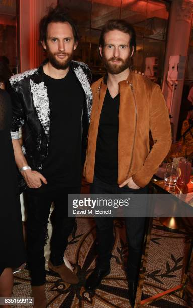 Marc Jacques Burton and Craig McGinlay attend the Elle Style Awards 2017 after party on February 13 2017 in London England