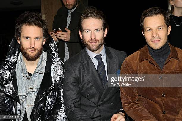 Marc Jacques Burton Craig McGinlay and Paul Sculfor attend the What We Wear show during London Fashion Week Men's January 2017 collections at on...