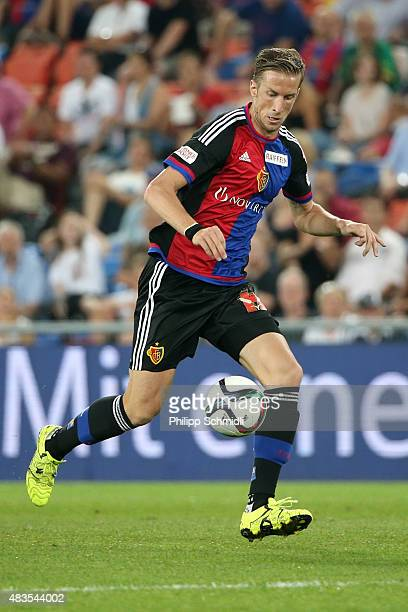 Marc Janko of FC Basel runs with the ball during the UEFA Champions League third qualifying round 2nd leg match between FC Basel 1893 and KKS Lech...