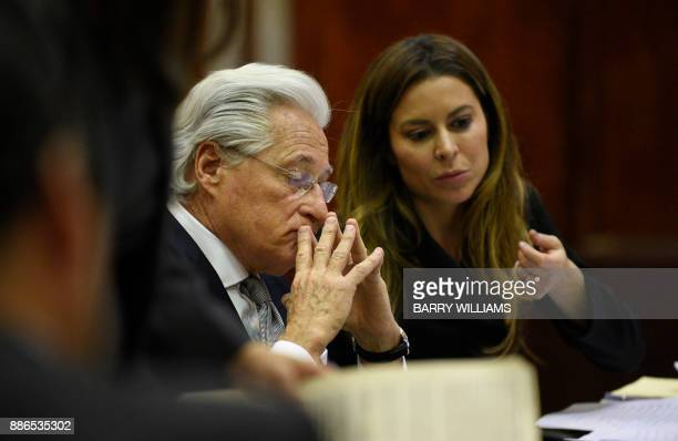 Marc Kasowitz personal attorney to US President Donald Trump attends a hearing on the defamation lawsuit againt Trump at New York County Criminal...
