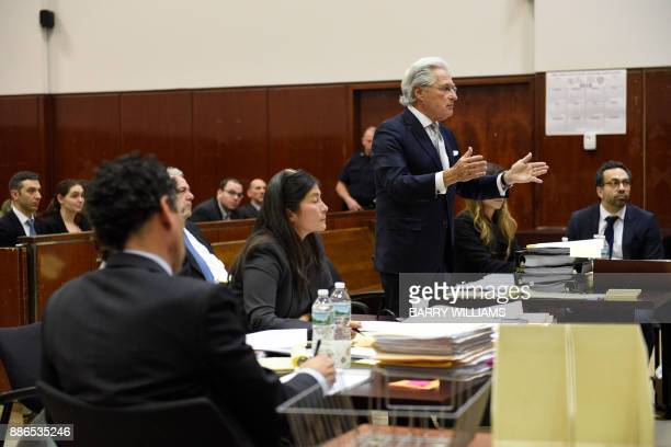 Marc Kasowitz personal attorney to US President Donald Trump speaks during hearing on the defamation lawsuit againt Trump at New York County Criminal...