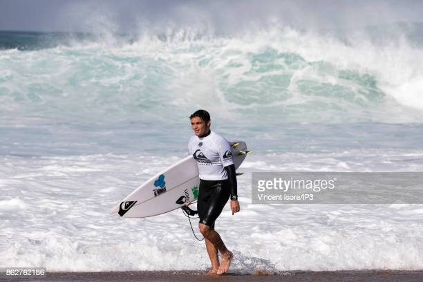 Marc Lacomare from France performs during the Quicksilver Pro France surf competition on October 12 2017 in Hossegor France he French stage of the...