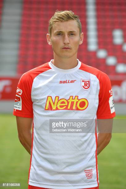 Marc Lais of Jahn Regensburg poses during the team presentation at Continental Arena on July 18 2017 in Regensburg Germany