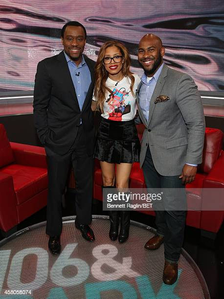 Marc Lamont Hill Keshia Chante and Dorian Spence attend 106 Park at BET studio on October 29 2014 in New York City