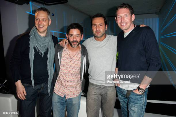 Marc Langenbrinck Manu Payet Gilles Lellouche and Till Conrad attend the MercedesBenz Popup store opening party on April 11 2013 in Paris France