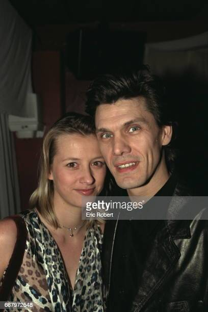 Marc Lavoine and his wife Sarah during the evening at the Bains Douches