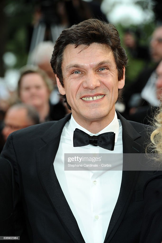 Marc Lavoine at the Premiere for 'You will meet a tall dark stranger' during the 63rd Cannes International Film Festival.