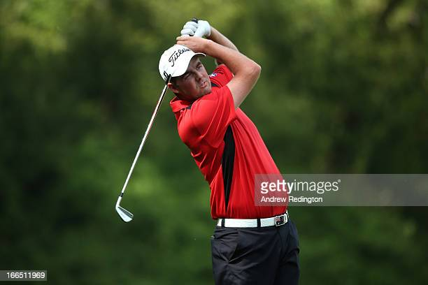 Marc Leishman of Australia hits a shot on the fifth hole during the third round of the 2013 Masters Tournament at Augusta National Golf Club on April...