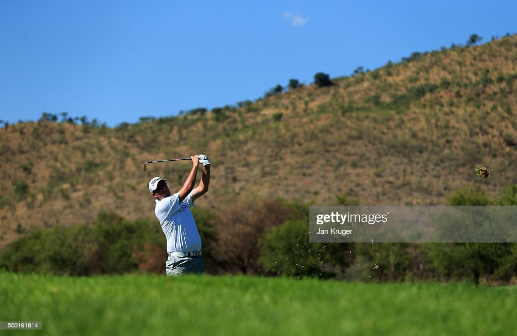 Marc Leishman of Australia plays a shot on the 15th hole during the final round on day four of the Nedbank Golf Challenge at Gary Player CC on December 6, 2015 in Sun City, South Africa.