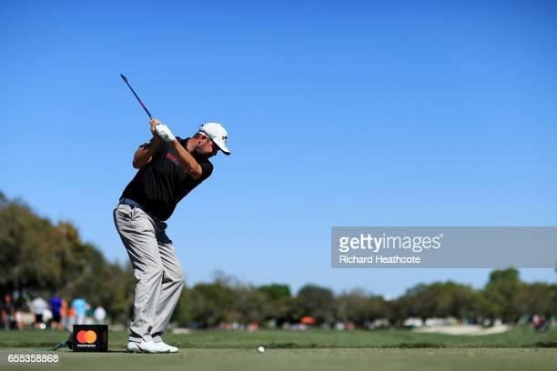 Marc Leishman of Australia plays his shot from the 11th tee during the final round of the Arnold Palmer Invitational Presented By MasterCard at Bay...