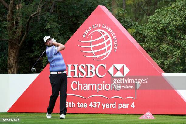 Marc Leishman of Australia plays his shot from the 13th tee during the first round of the WGC HSBC Champions at Sheshan International Golf Club on...