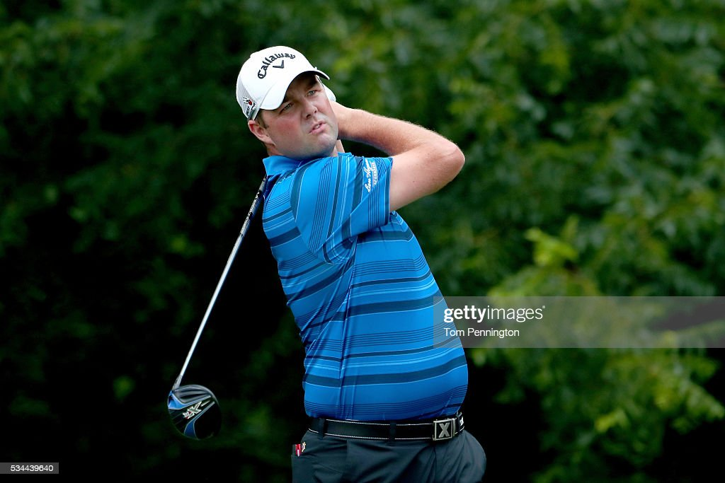 <a gi-track='captionPersonalityLinkClicked' href=/galleries/search?phrase=Marc+Leishman&family=editorial&specificpeople=2582046 ng-click='$event.stopPropagation()'>Marc Leishman</a> of Australia plays his shot from the sixth tee during the First Round of the DEAN & DELUCA Invitational at Colonial Country Club on May 26, 2016 in Fort Worth, Texas.