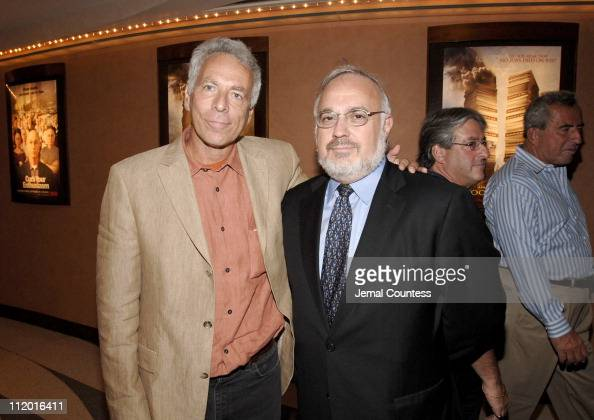 Marc Levin writerdirector of 'Protocols of Zion' with Rabbi Abraham Cooper Associate Dean of the Simon Wiesenthal Center