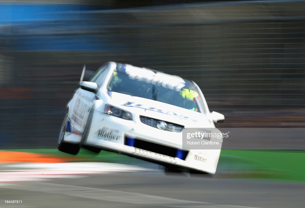Marc Lieb of Germny drives the #19 Tekno Autosports Holden during race 22 for the Gold Coast 600, which is round 12 of the V8 Supercars Championship Series at the Gold Coast Street Circuit on October 20, 2012 on the Gold Coast, Australia.