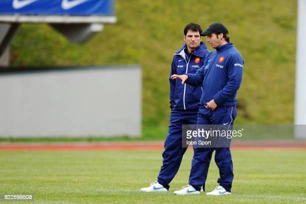 Marc LIEVREMONT / Gonzalo QUESADA Entrainement equipe de France au CNR Marcoussis Tournoi des 6 Nations 2010