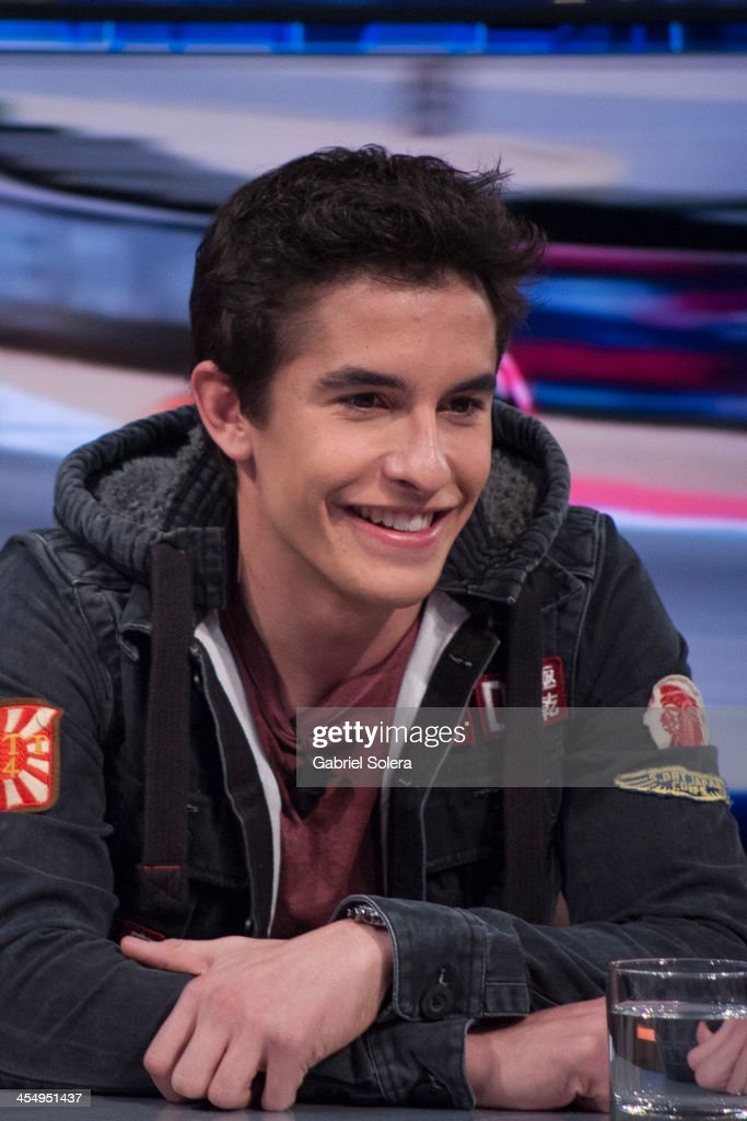 <a gi-track='captionPersonalityLinkClicked' href=/galleries/search?phrase=Marc+Marquez&family=editorial&specificpeople=5409395 ng-click='$event.stopPropagation()'>Marc Marquez</a> attends 'El Hormiguero' Tv Show at Vertice Studio on December 10, 2013 in Madrid, Spain.