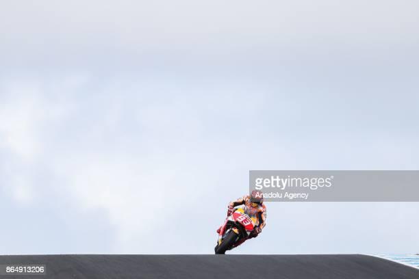 Marc Marquez of Spain Repsol Honda Team on Lukey Heights is seen during the 2017 MotoGP of Australia Phillip Island Grand Prix Circuit in Phillip...