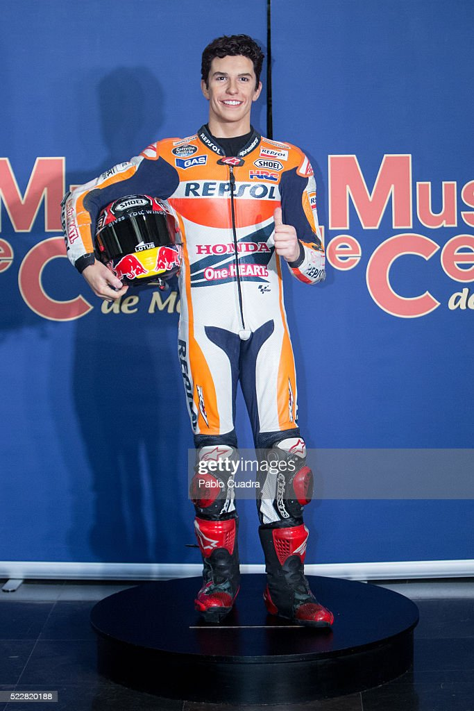 <a gi-track='captionPersonalityLinkClicked' href=/galleries/search?phrase=Marc+Marquez&family=editorial&specificpeople=5409395 ng-click='$event.stopPropagation()'>Marc Marquez</a>'s Wax figure at Wax Museum on April 21, 2016 in Madrid, Spain.