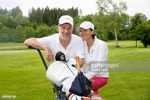 Marc Marshall and Margareta Weisbrod attend the 2016 Davidoff Tour Gastronomique at golf club Beuerberg on June 4 2016 in Penzberg Germany